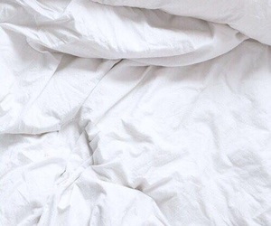 white, bed, and wallpaper image