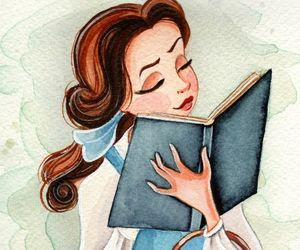 disney, belle, and book image