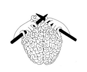brain, art, and drawing image