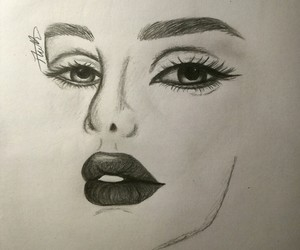face, sketchpad, and pencil image