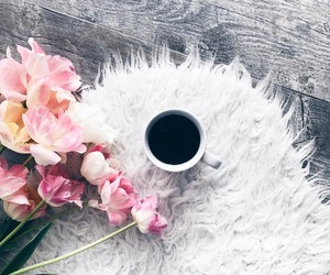 coffee, flowers, and still life image