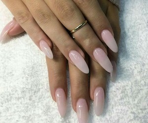 light pink and nails image