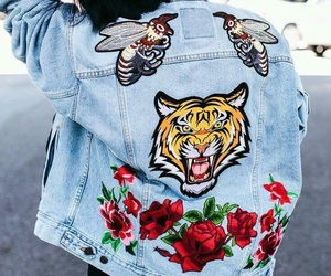 jacket, jeans, and gucci image