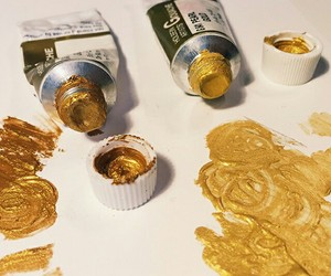gold, art, and paint image