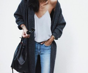 black, denim, and fashion image