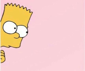 wallpaper, pink, and simpsons image