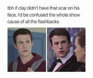 13 reasons why, clay, and hannah baker image