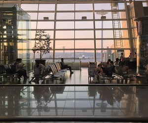 airport, travel, and aesthetic image