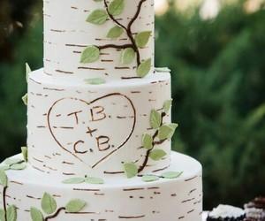 cake, wedding, and love image
