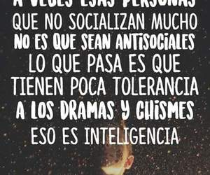 antisocial, frases, and inteligente image