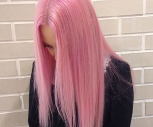 hair, pink, and tumblr image