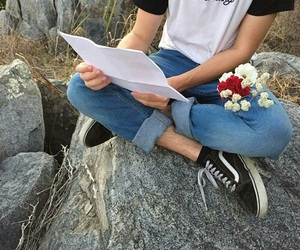 flowers, vans, and alternative image