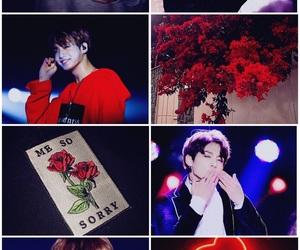 aesthetic, bangtansonyeondan, and red image