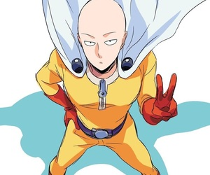 anime, saitama, and hero image