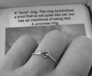 love, ring, and promise image