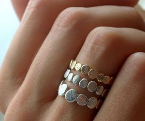 ring, gold, and rings image