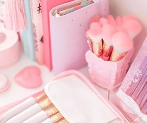 pink, pastel, and makeup image