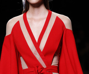 Balmain, fashion, and red image