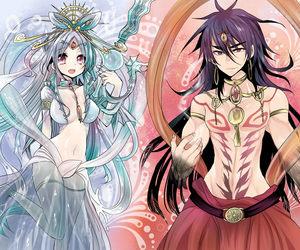 anime, art, and magi image