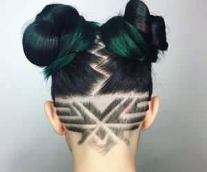 pastel, undercut, and hairtattoo image