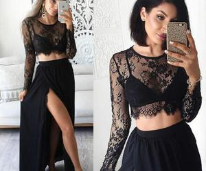 party dress, a line prom dress, and two piece prom dress image