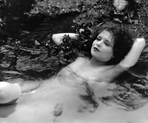 actress, black and white, and clara bow image