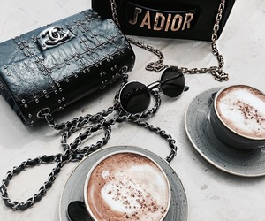 chanel, coffee, and fashion image