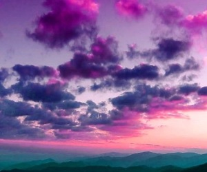 sky, purple, and clouds image