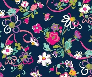wallpaper, pattern, and flowers image