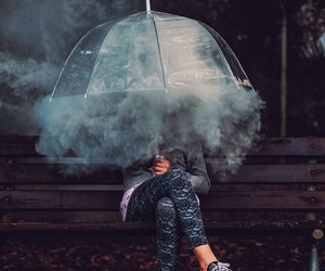 smoke, photography, and umbrella image