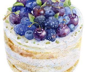 dessert, blueberry, and cake image