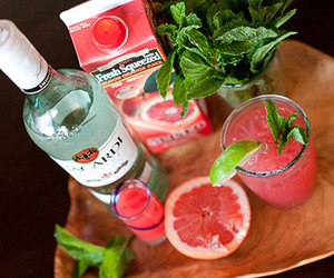 drink, bacardi, and pink image