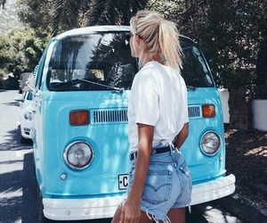 girl, summer, and travel image