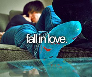 love, fall in love, and couple image