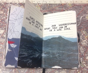 journal, quote, and sketchbook image