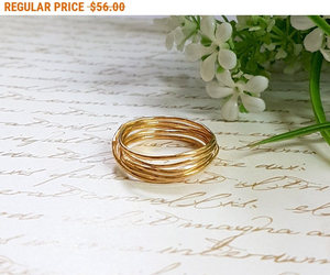 bridal jewelry, gold ring, and bridesmaid gift image
