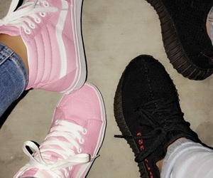 pink, shoes, and yeezys image
