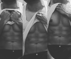 boyfriend, 6 pack, and love image