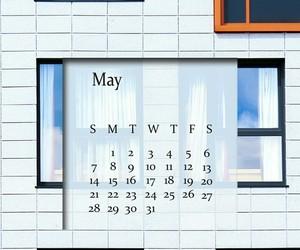 agenda, may calendar, and may 2017 image