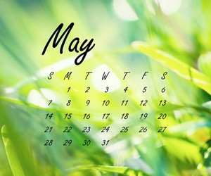 agenda, nature, and may calendar image