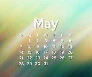 agenda, may calendar, and monthly calendar image