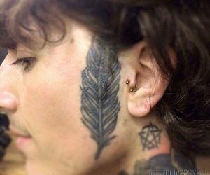 oliver sykes, piercing, and tattoo image