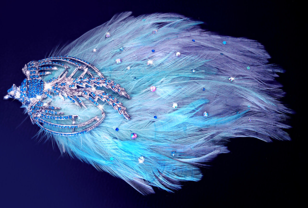 hair accessories, ooak, and feather fascinator image