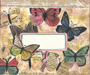 craft supplies, envelope, and scrap book image