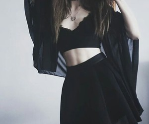 black, goth, and clothes image