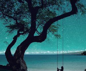 tree, stars, and night image