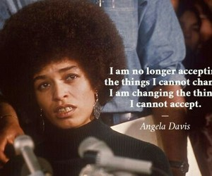 quotes, angela davis, and feminism image