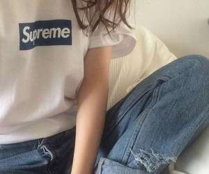 fashion, supreme, and clothes image