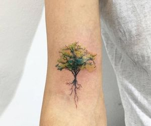tattoo, Tattoos, and tree image