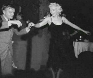 black and white, Marilyn Monroe, and Truman Capote image